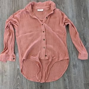 Style & Co. tie front blouse